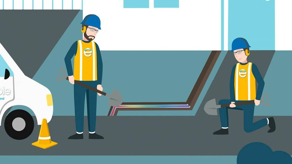 Enable Residential Fibre<br>2D Explainer Video
