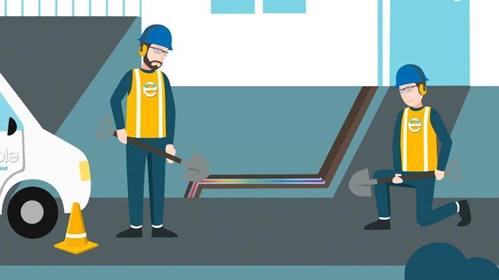 Enable Residential Fibre<br>2D Explainer Video